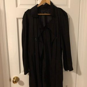 Topshop black trench coat